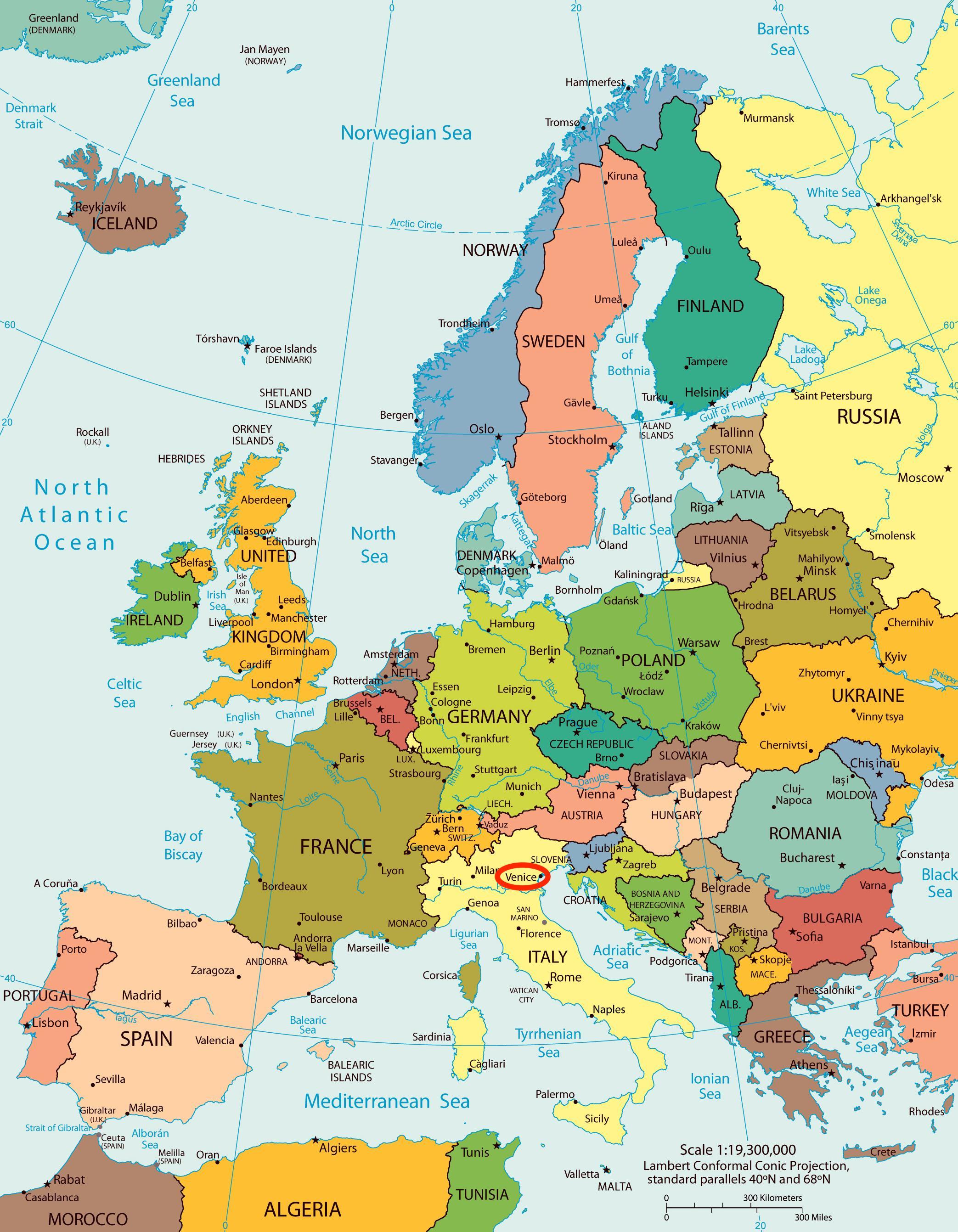 Carte Europe Venise.Carte De Venise Europe Carte De Venise Carte De L Europe